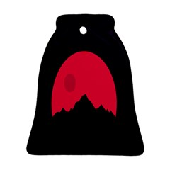 Awesome Photos Collection Minimalist Moon Night Red Sun Bell Ornament (two Sides) by Jojostore