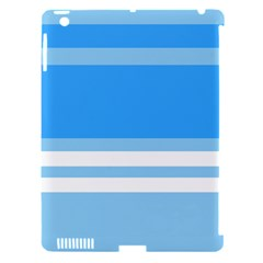 Blue Horizon Graphic Simplified Version Apple Ipad 3/4 Hardshell Case (compatible With Smart Cover) by Jojostore