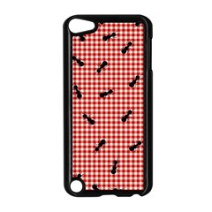 Ant Red Gingham Woven Plaid Tablecloth Apple Ipod Touch 5 Case (black) by Jojostore