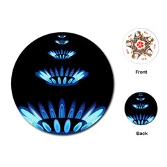 Blue Flame Playing Cards (Round)  by Jojostore