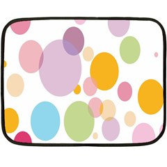 Bubble Water Yellow Blue Green Orange Pink Circle Fleece Blanket (mini) by Jojostore