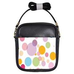Bubble Water Yellow Blue Green Orange Pink Circle Girls Sling Bags by Jojostore