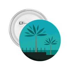 Coconut Palm Trees Sea 2 25  Buttons by Jojostore