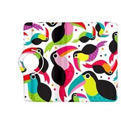 Colorful Toucan Retro Kids Pattern Bird Animals Rainbow Purple Flower Kindle Fire Hdx 8 9  Flip 360 Case by Jojostore