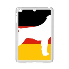 German Wirehaired Pointer Silo On Flag iPad Mini 2 Enamel Coated Cases by TailWags