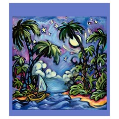 Entdecker Grab Bag Island Dream By David Gullett   Drawstring Pouch (medium)   Biavvf32yup6   Www Artscow Com Front