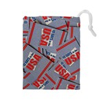 10 Days In USA Grab Bag - Drawstring Pouch (Large)