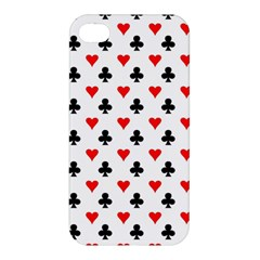 Curly Heart Card Red Black Gambling Game Player Apple Iphone 4/4s Premium Hardshell Case by Jojostore