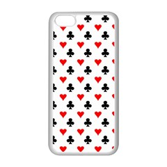 Curly Heart Card Red Black Gambling Game Player Apple Iphone 5c Seamless Case (white) by Jojostore