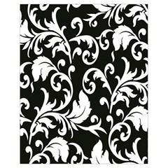 Clasic Floral Flower Black Drawstring Bag (small) by Jojostore