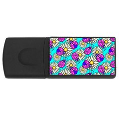 Bunga Matahari Serangga Flower Floral Animals Purple Yellow Blue Pink Usb Flash Drive Rectangular (4 Gb) by Jojostore