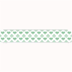 Diamond Heart Card Purple Valentine Love Blue Green Small Bar Mats by Jojostore
