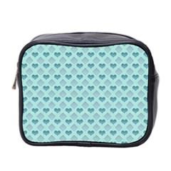 Diamond Heart Card Valentine Love Blue Mini Toiletries Bag 2 Side by Jojostore