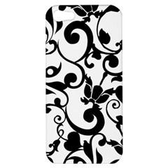 Floral Flower Leaf Black Apple Iphone 5 Hardshell Case by Jojostore