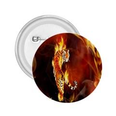 Fire Tiger Lion Animals Wild Orange Yellow 2 25  Buttons by Jojostore
