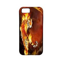Fire Tiger Lion Animals Wild Orange Yellow Apple Iphone 5 Classic Hardshell Case (pc+silicone) by Jojostore