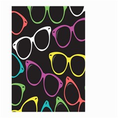 Glasses Color Pink Mpurple Green Yellow Blue Rainbow Black Small Garden Flag (two Sides) by Jojostore