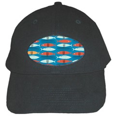 Go Fish  Fishing Animals Sea Water Beach Red Blue Orange Grey Black Cap by Jojostore