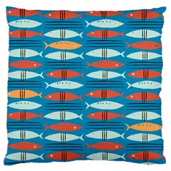 Go Fish  Fishing Animals Sea Water Beach Red Blue Orange Grey Standard Flano Cushion Case (one Side) by Jojostore