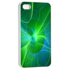 Line Green Light Apple Iphone 4/4s Seamless Case (white) by Jojostore