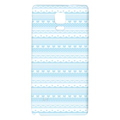 Love Heart Valentine Blue Star Woven Wave Fabric Chevron Galaxy Note 4 Back Case by Jojostore