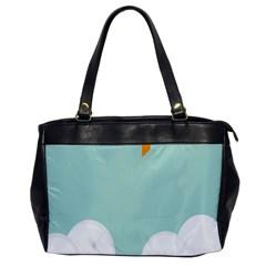 Minimalis Kite Clouds Orange Blue Sky Office Handbags by Jojostore