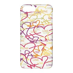 Love Heart Valentine Rainbow Color Purple Pink Yellow Green Apple iPhone 7 Plus Hardshell Case by Jojostore