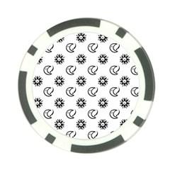 Month Moon Sun Star Poker Chip Card Guard (10 pack)