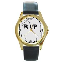 Rip Round Gold Metal Watch by Jojostore
