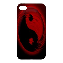 Red Black Taichi Stance Sign Apple Iphone 4/4s Hardshell Case by Jojostore
