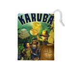 Karuba Tile Bag Yellow Box Art - Drawstring Pouch (Medium)