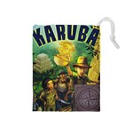 Karuba Grey Tile Bag Box Art - Drawstring Pouch (Medium)