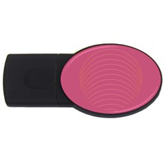 Tumblr Static Pink Wave Fingerprint Usb Flash Drive Oval (4 Gb) by Jojostore