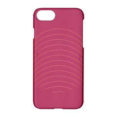 Tumblr Static Pink Wave Fingerprint Apple Iphone 7 Hardshell Case by Jojostore