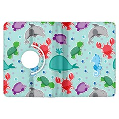 Turtle Crab Dolphin Whale Sea World Whale Water Blue Animals Kindle Fire Hdx Flip 360 Case by Jojostore