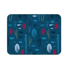 Sea World Fish Ccoral Blue Water Double Sided Flano Blanket (mini)  by Jojostore
