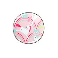 Unicorn Animals Horse Pink Rainbow Hat Clip Ball Marker by Jojostore