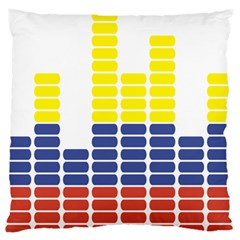 Volumbia Olume Circle Yellow Blue Red Large Flano Cushion Case (one Side) by Jojostore
