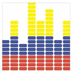 Volumbia Olume Circle Yellow Blue Red Large Satin Scarf (square) by Jojostore