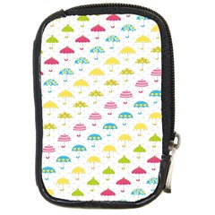 Umbrella Tellow Blue Red Pink Green Color Rain Kid Compact Camera Cases by Jojostore