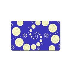Vortical Universe Fractal Blue Magnet (name Card) by Jojostore