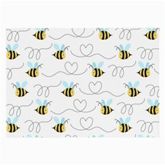 Wasp Bee Fly Yellow Black Blue Hanny Love Large Glasses Cloth (2 Side) by Jojostore