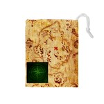 Karuba Green Tile Bag Treasure Map - Drawstring Pouch (Medium)