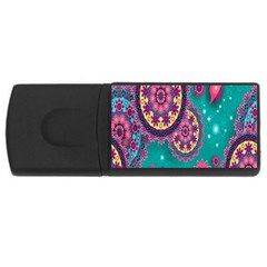 Vintage Butterfly Floral Flower Rose Star Purple Pink Green Yellow Animals Fly Usb Flash Drive Rectangular (4 Gb) by Jojostore