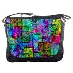 Rainbow Floral Doodle Messenger Bags by KirstenStar