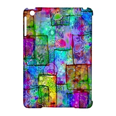 Rainbow Floral Doodle Apple Ipad Mini Hardshell Case (compatible With Smart Cover) by KirstenStar