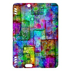 Rainbow Floral Doodle Kindle Fire Hdx Hardshell Case by KirstenStar