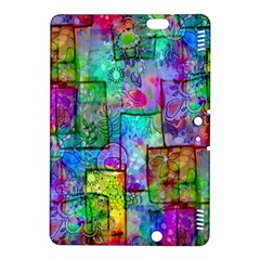 Rainbow Floral Doodle Kindle Fire Hdx 8 9  Hardshell Case by KirstenStar