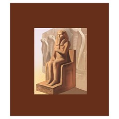 Imhotep Brown Stone Draw Bag Game Art By David Gullett   Drawstring Pouch (small)   Rb078udghn0k   Www Artscow Com Back