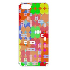 Abstract Polka Dot Pattern Apple Iphone 5 Seamless Case (white) by Nexatart